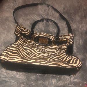 Michael Kors calf hair zebra print purse